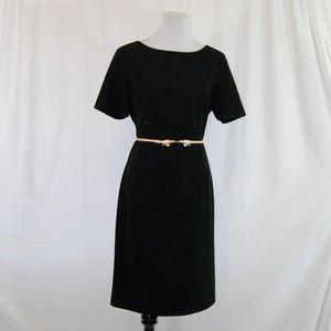 🆕 Ann Taylor Black Lined Short Sleeve Dress